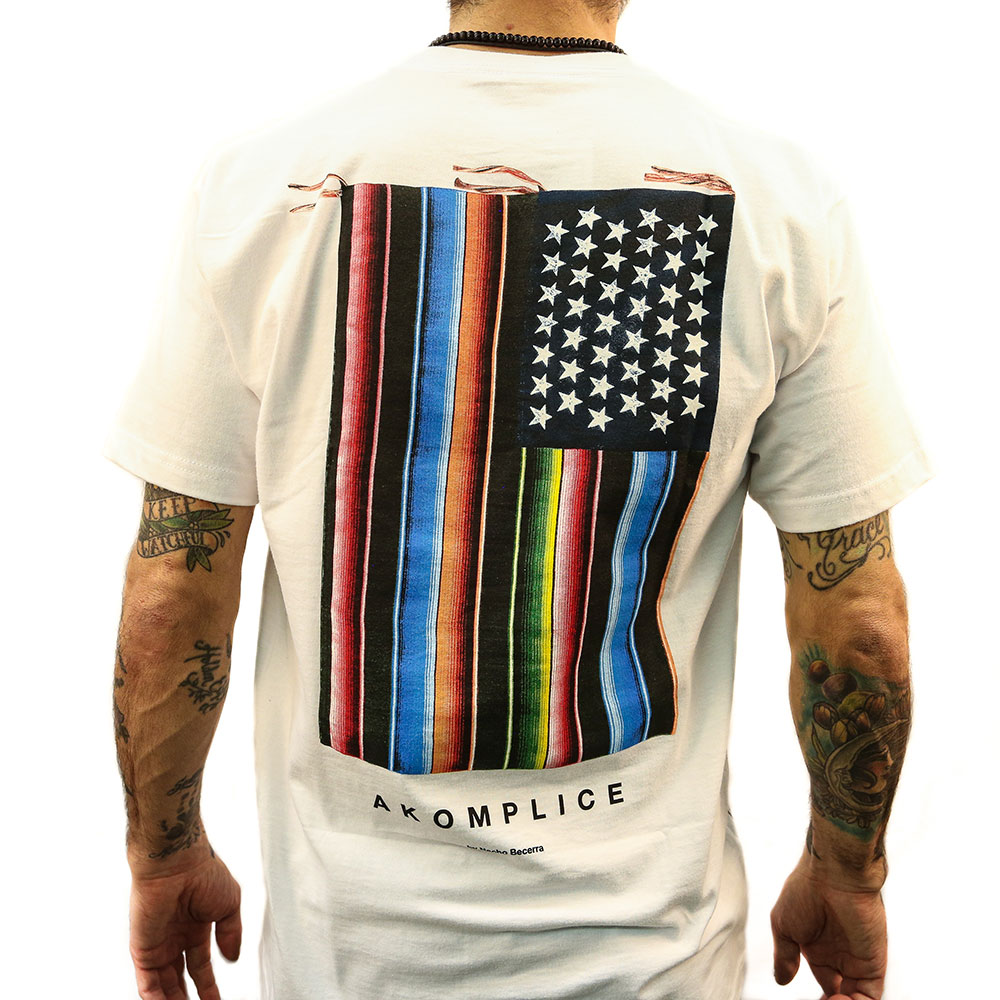 US flag in rainbow color t-shirt