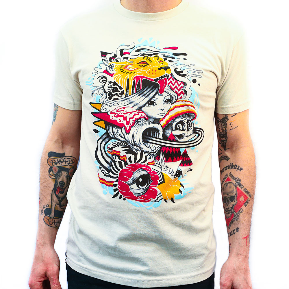 Colorful tee printed by superior ink in Denver
