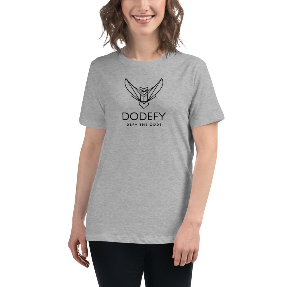 Women's Relaxed Dodefy T-Shirt Light Colors & Black Logo