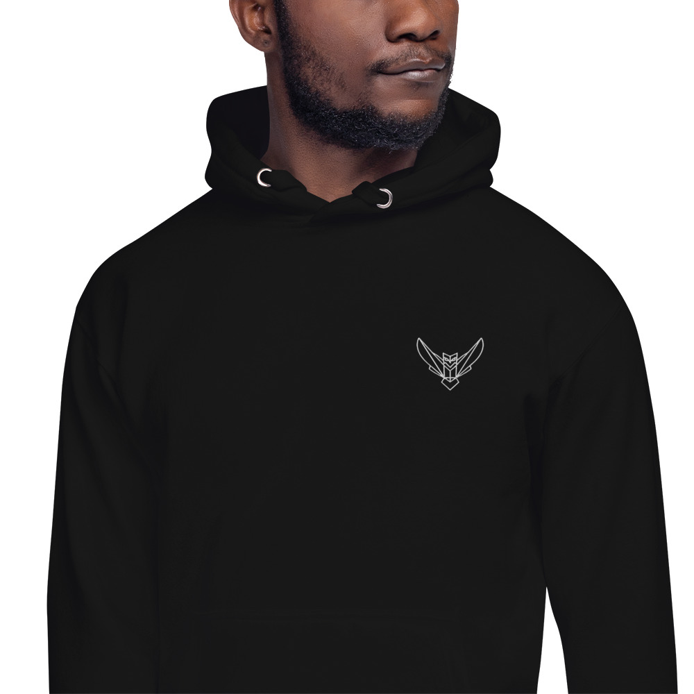 Men's Hoodie Embroidered Dodefy Own Only White Logo