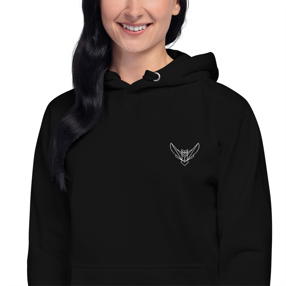 Women's Hoodie Embroidered Dodefy Own Only White Logo
