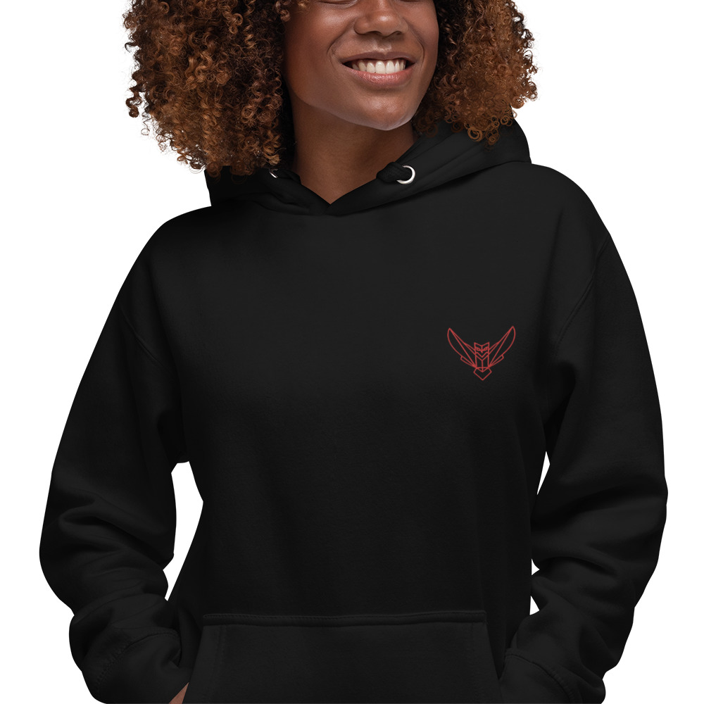 Women's Hoodie Embroidered Dodefy Own Only Red Logo