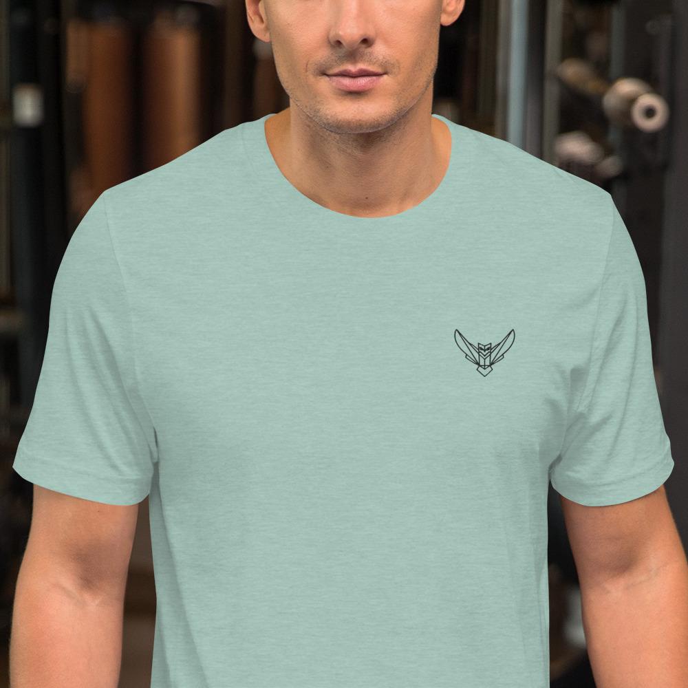 Short-Sleeve Men's T-Shirt Dodefy Embroidered Logo Light