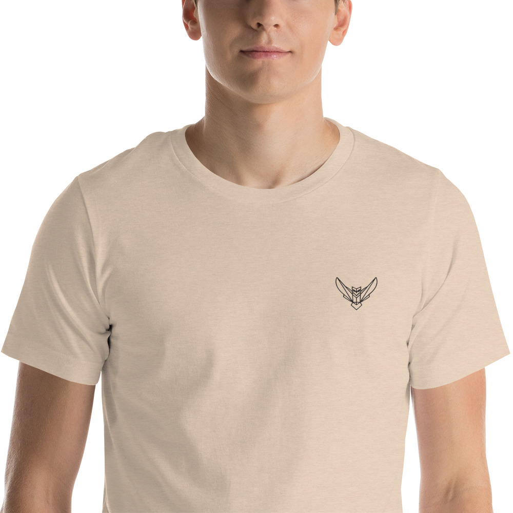 Short-Sleeve Men's T-Shirt Dodefy Embroidered Logo Very Light