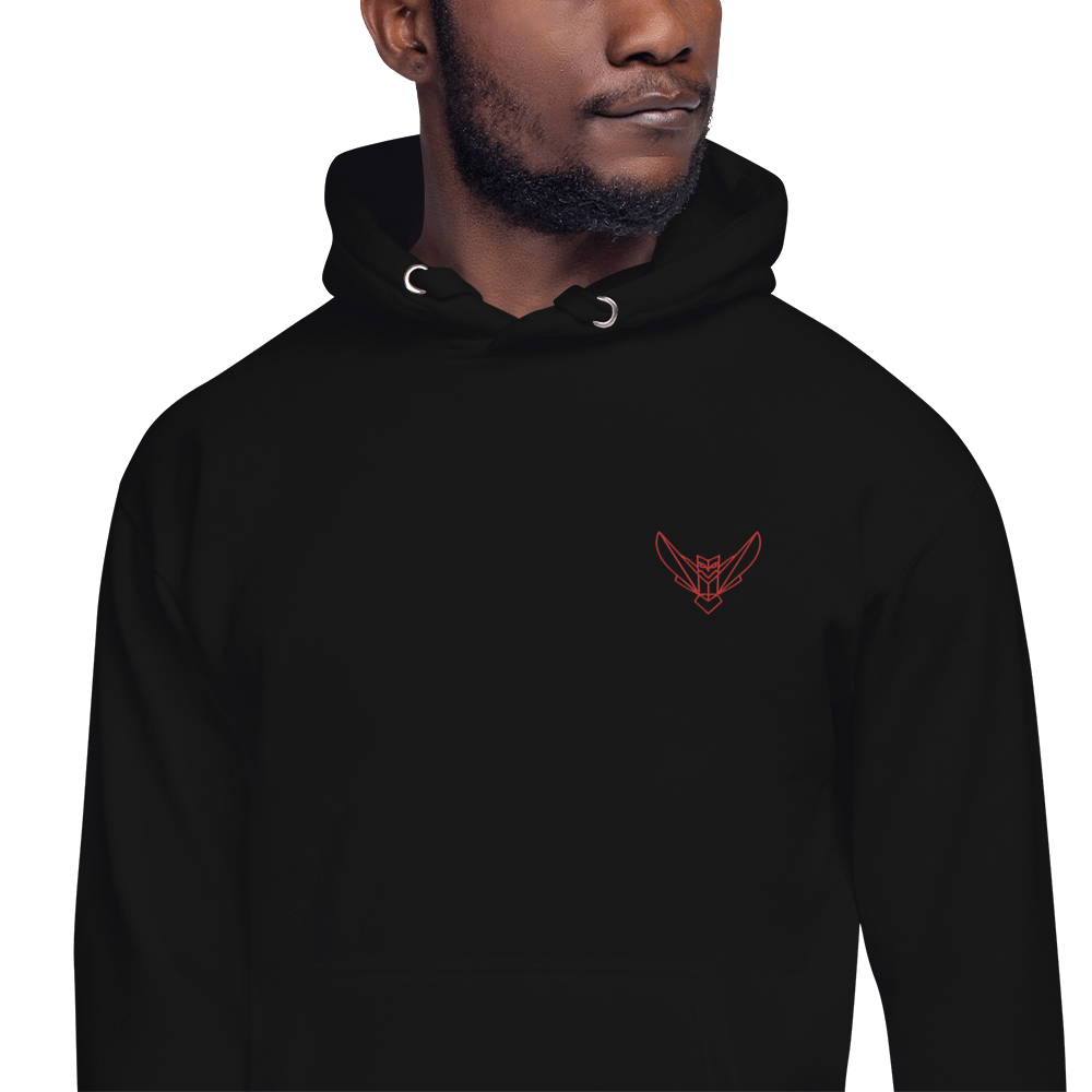 Men's Hoodie Embroidered Dodefy Own Only Red Logo