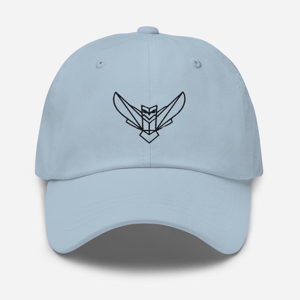 Dodefy Owl Dad Hat Curved Visor Adjustable Strap Black Logo