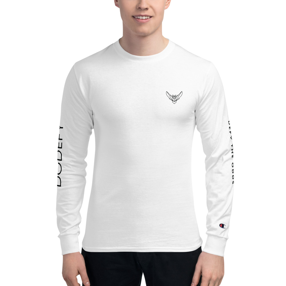 Men's Champion Long Sleeve White Shirt