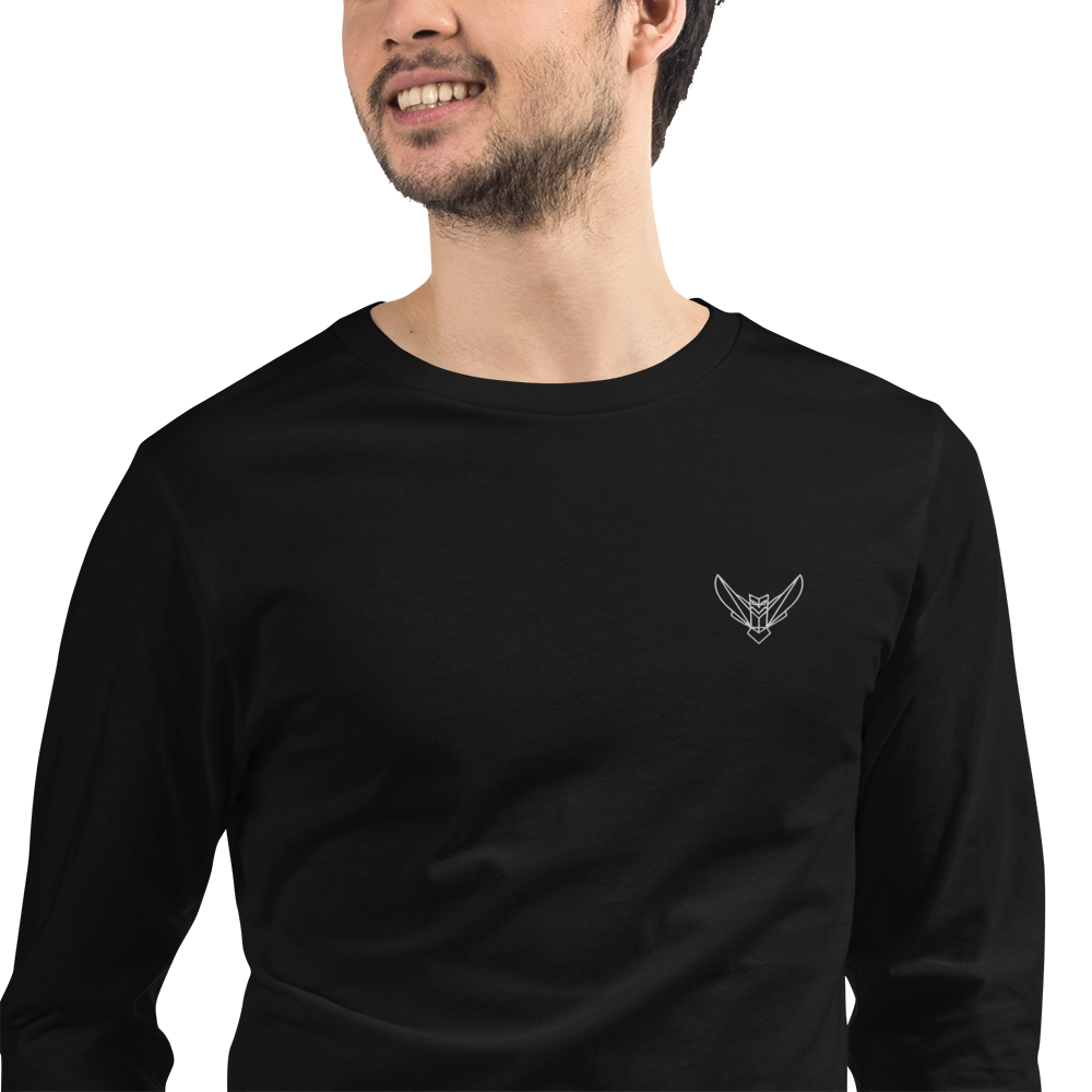 Men's Long Sleeve Tee Embroidered Logo