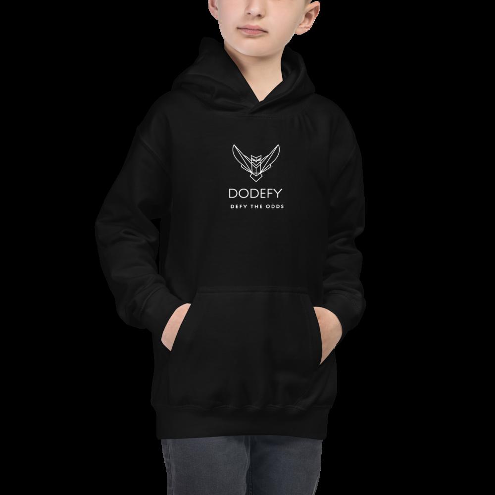 Kids Boys & Girls Hoodie Dodefy Official Logo Dark Colors