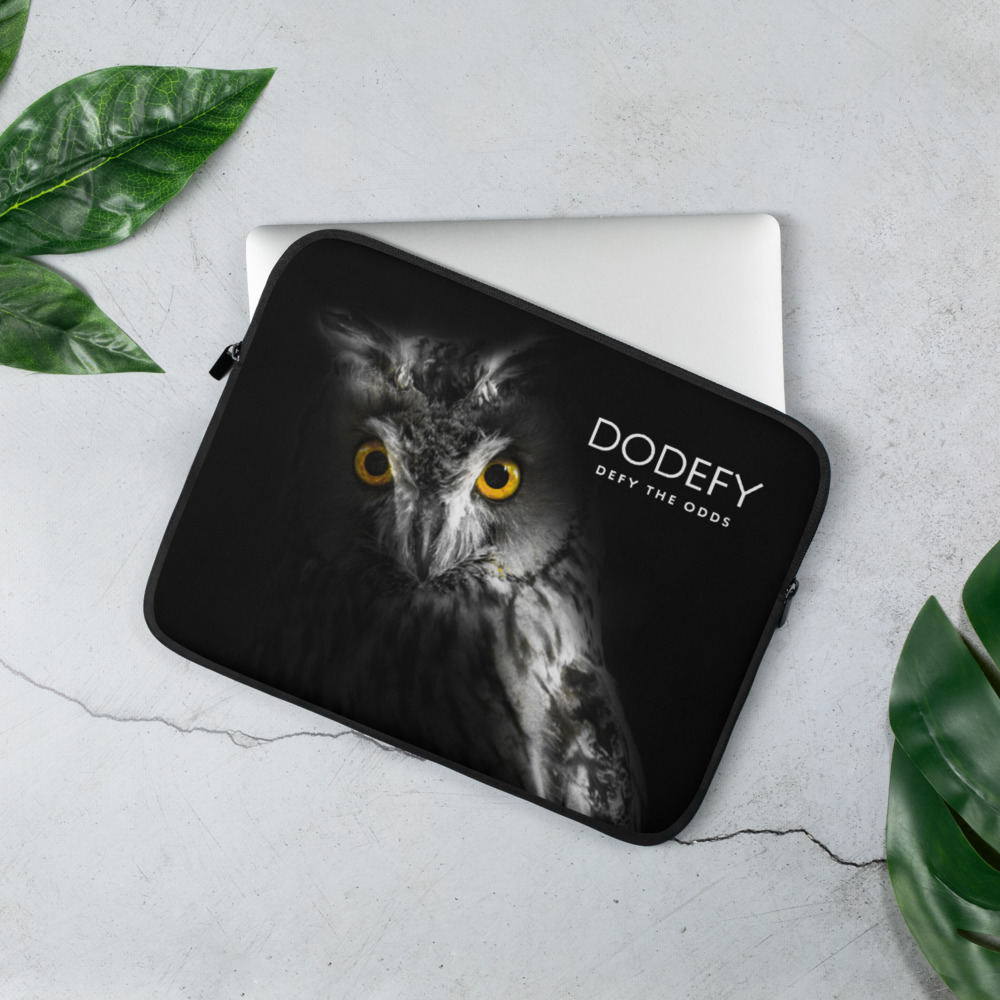 Laptop Sleeve Dodefy Defy the Odds Real Owl