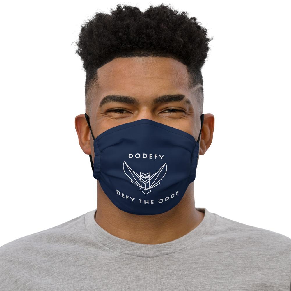 Premium Navy Dodefy Face Mask Defy The Odds