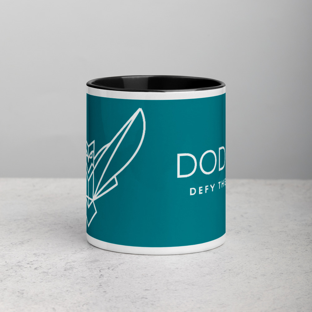Blue Mug with Color Inside Dodefy Owl & Defy The Odds