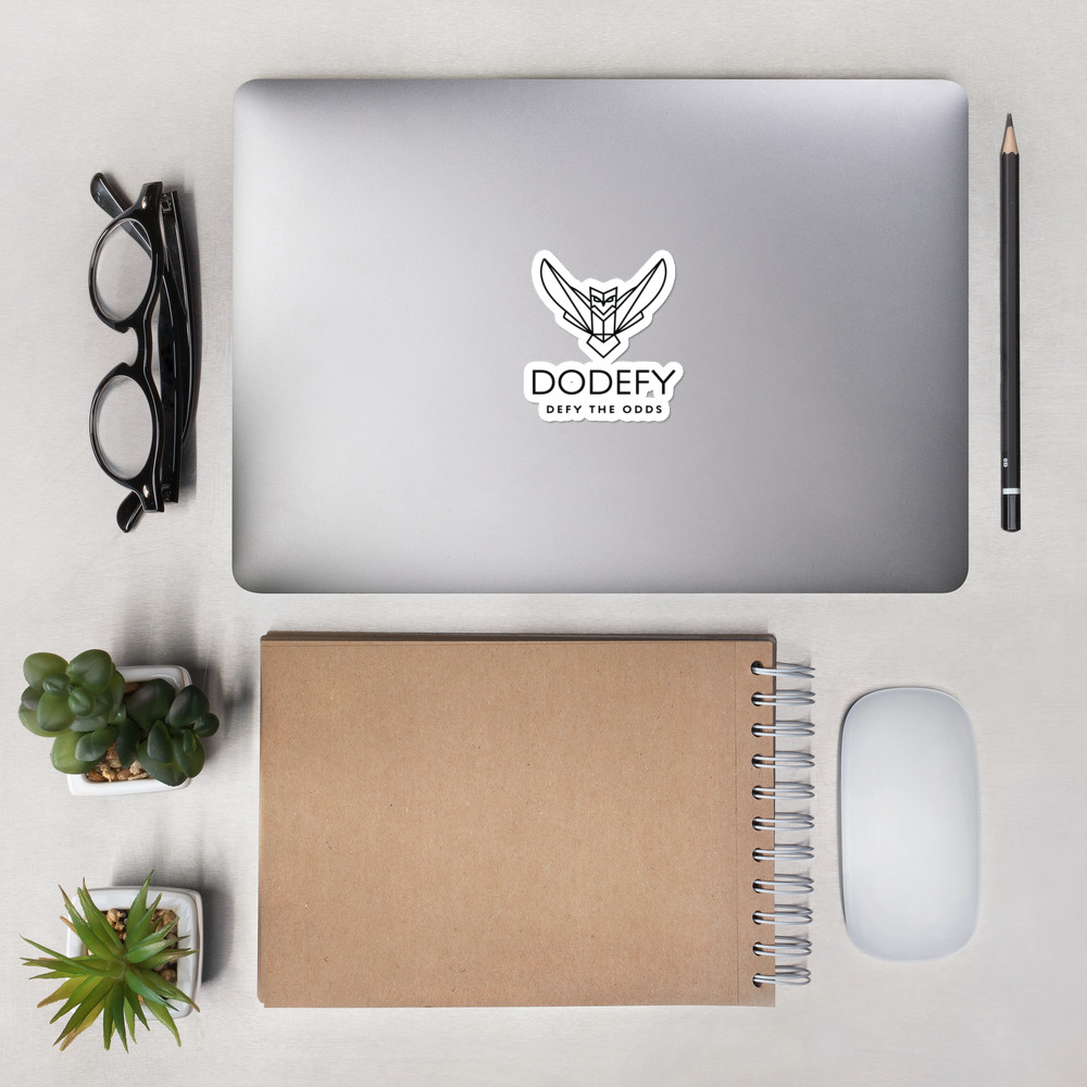 Bubble-free stickers Black Dodefy Owl & Defy the Odds