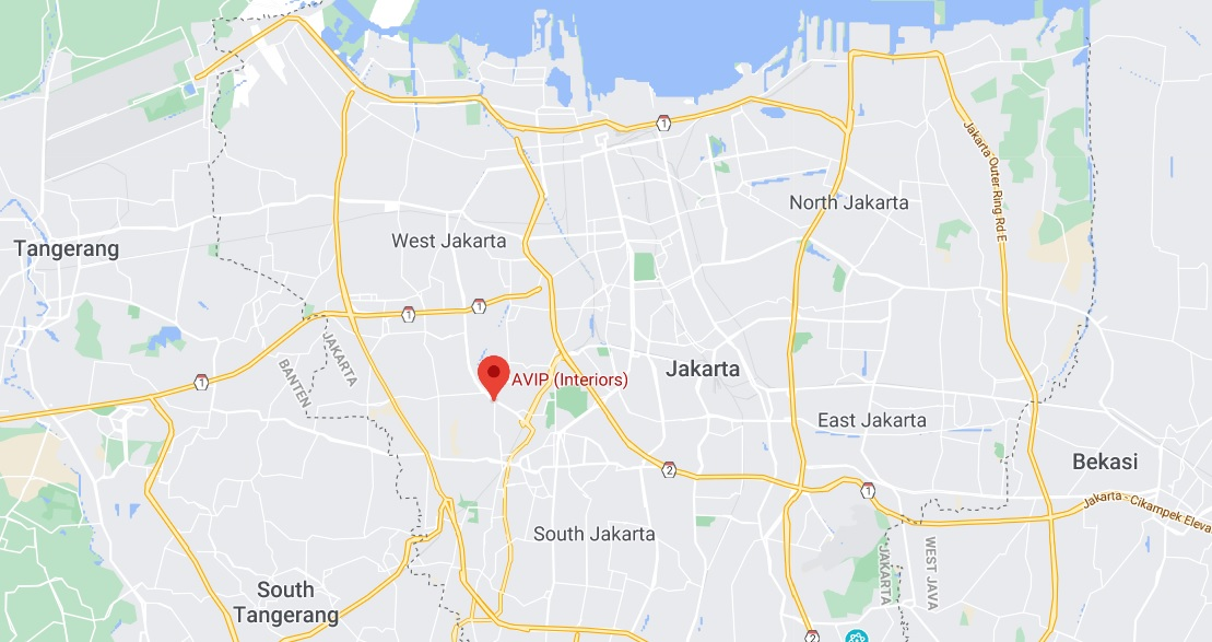 This is a map of Jakarta with a red pin point for AVIP's location in Jakarta. By clicking on the image it will redirect you to the Google Maps location in a new window.