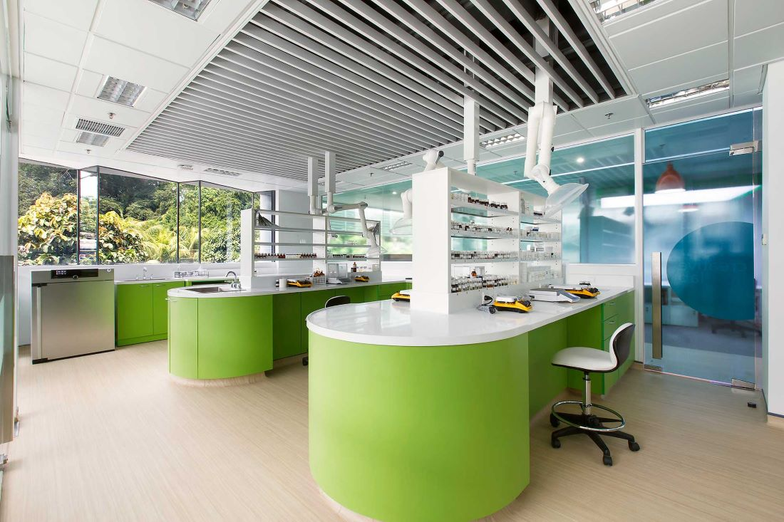 Laboratorium for IFF's research department. Interior Design + Build by AVIP.