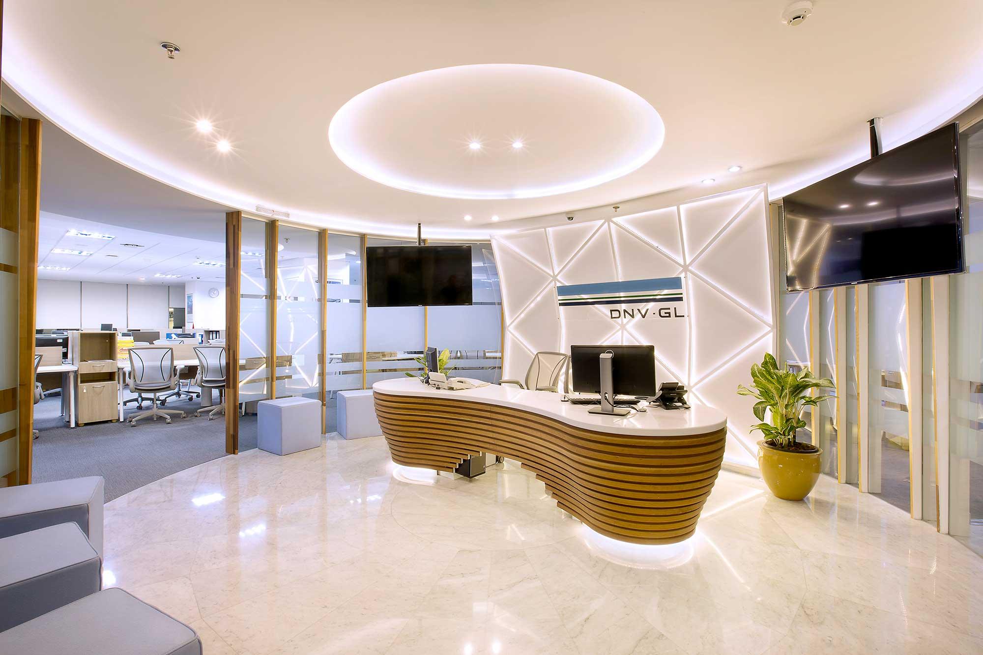 The new reception area for Noble Denton. Interior Design + Build by AVIP.
