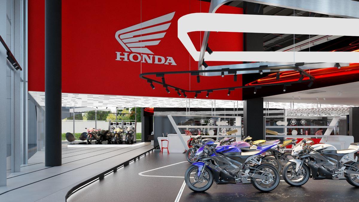 New showroom for Honda Motorbikes in Jakarta. Interior Design and Build by AVIP.