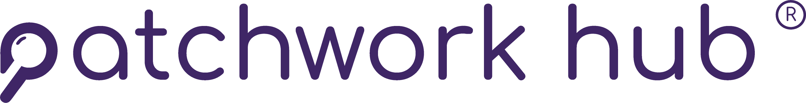 Light Purple Patchwork Hub logo