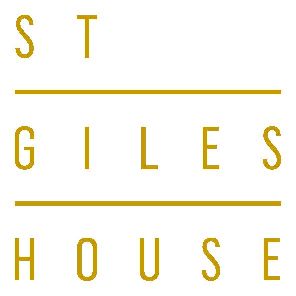 St Giles House gold logo