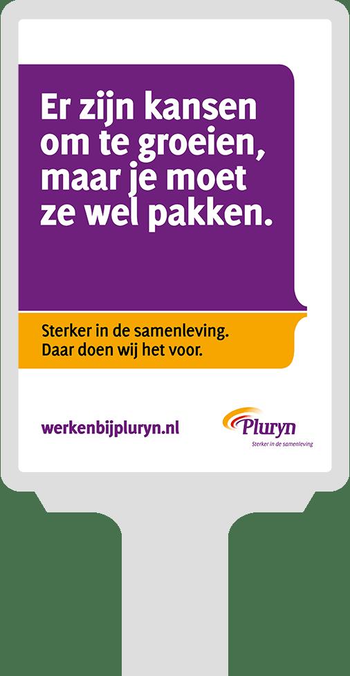 Abri voor campagne Pluryn voor werving begeleiders