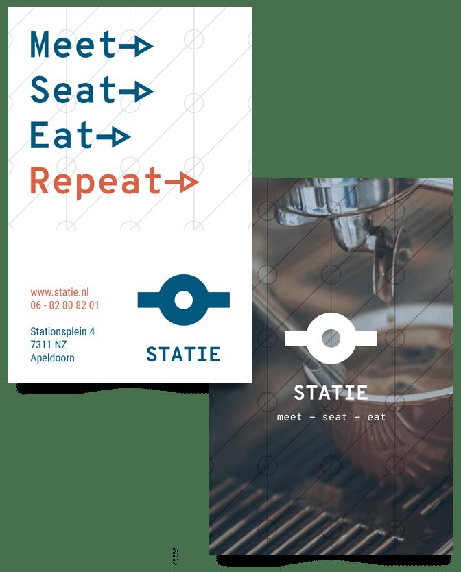 Visitekaartje Statie binnen nieuwe visuele merkidentiteit Statie