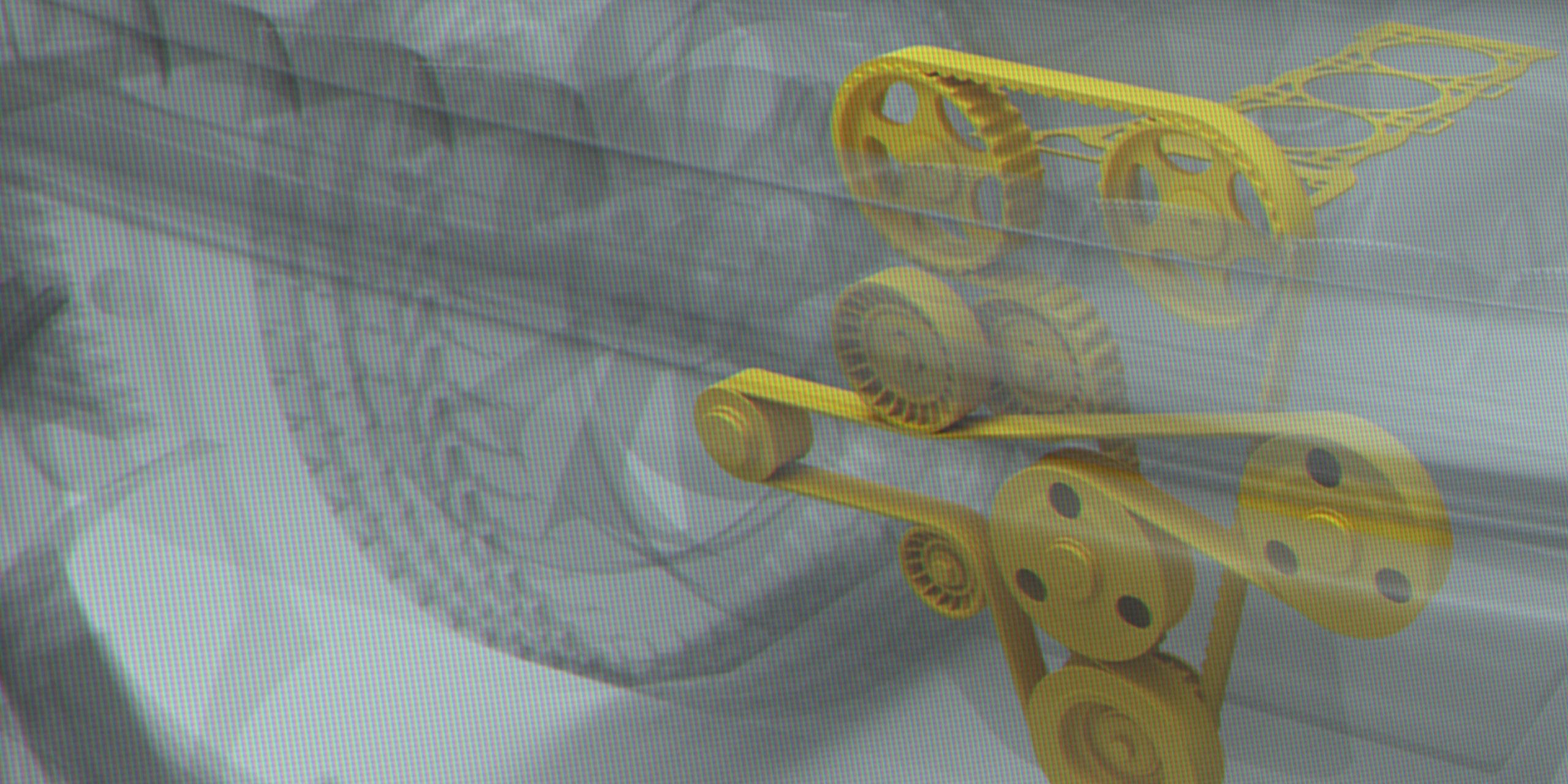 3D visual van auto waarin in geel is aangegeven wat aramide is