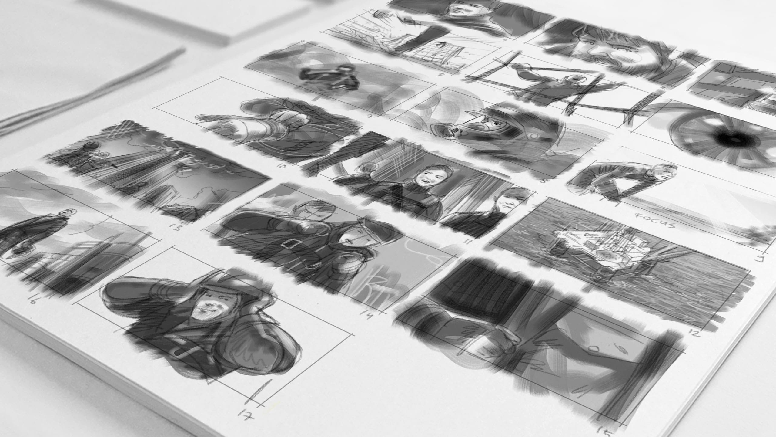 Storyboard voor film Safety & Life protection binnen campagne Teijin Aramid