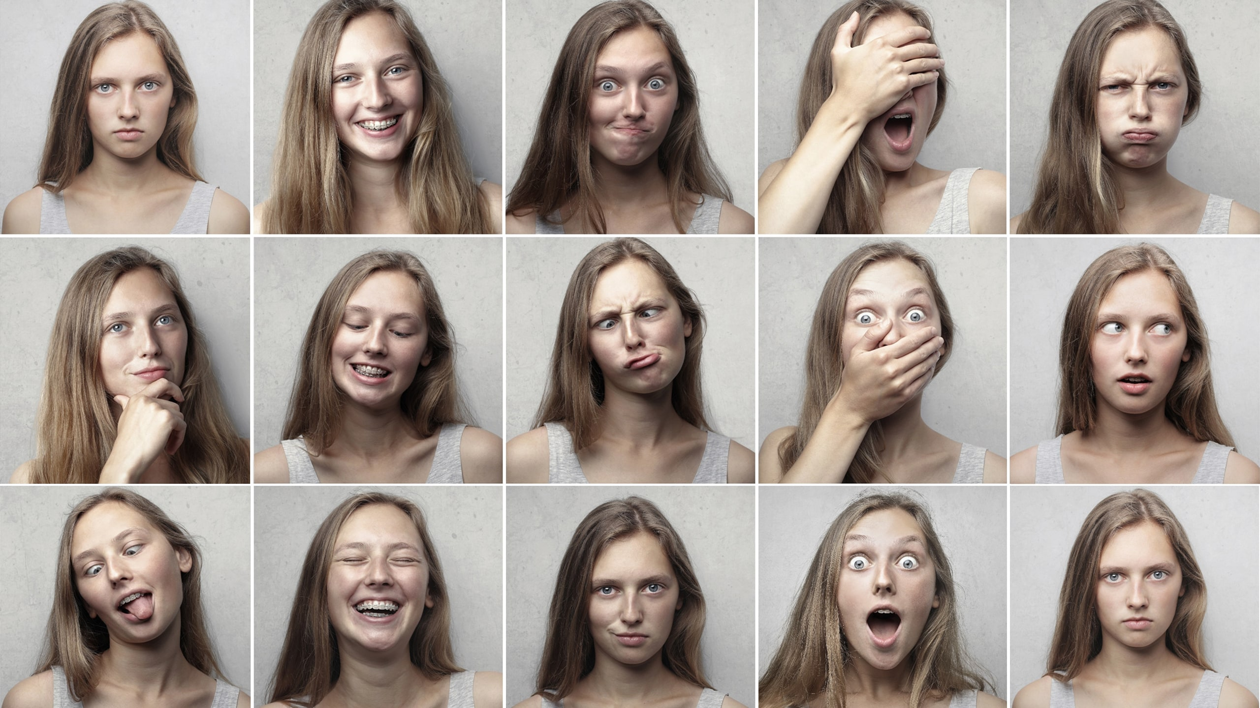 Mensen hebben verschillende emoties en gezichten, net als merken.