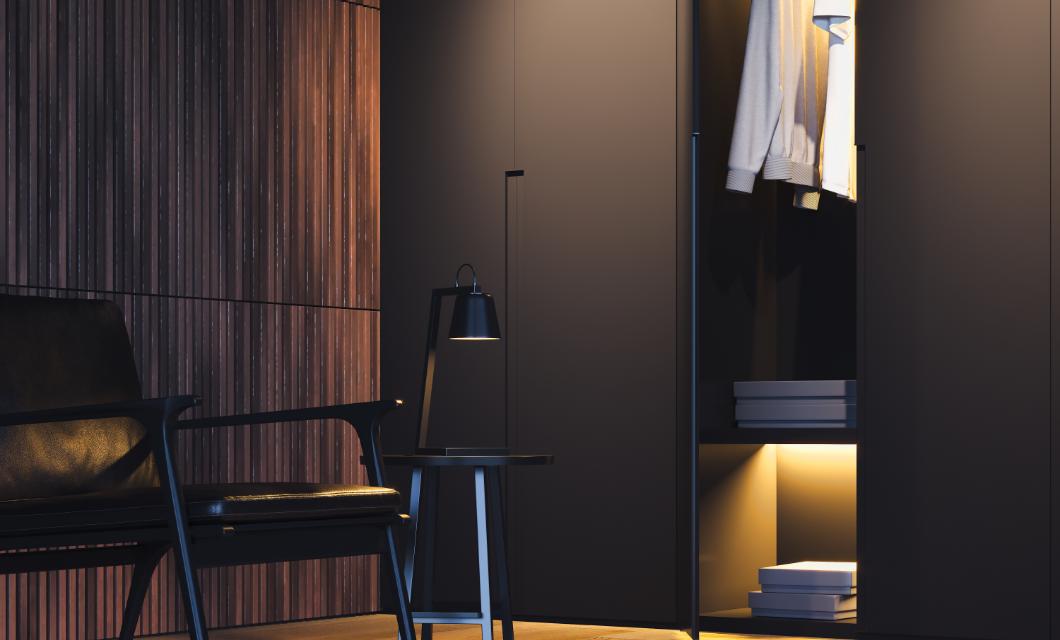 Bedroom wardrobe lighting