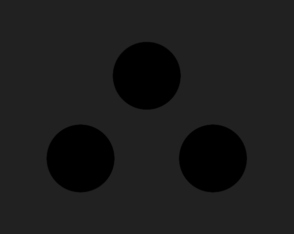 The 3 black dots of darkness