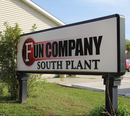 Photo of Fun Company South Plant sign.