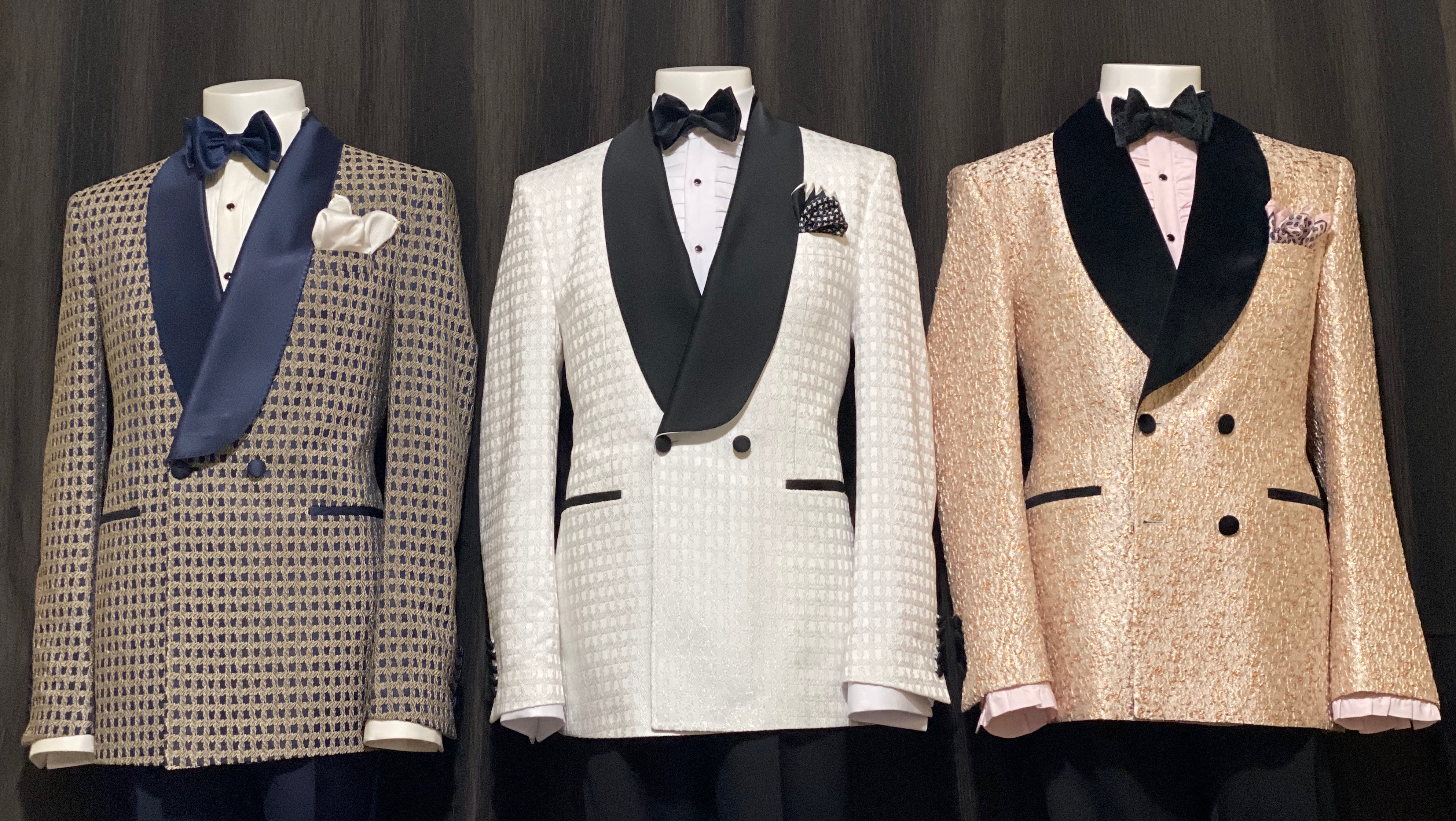 Tuxedos on display.