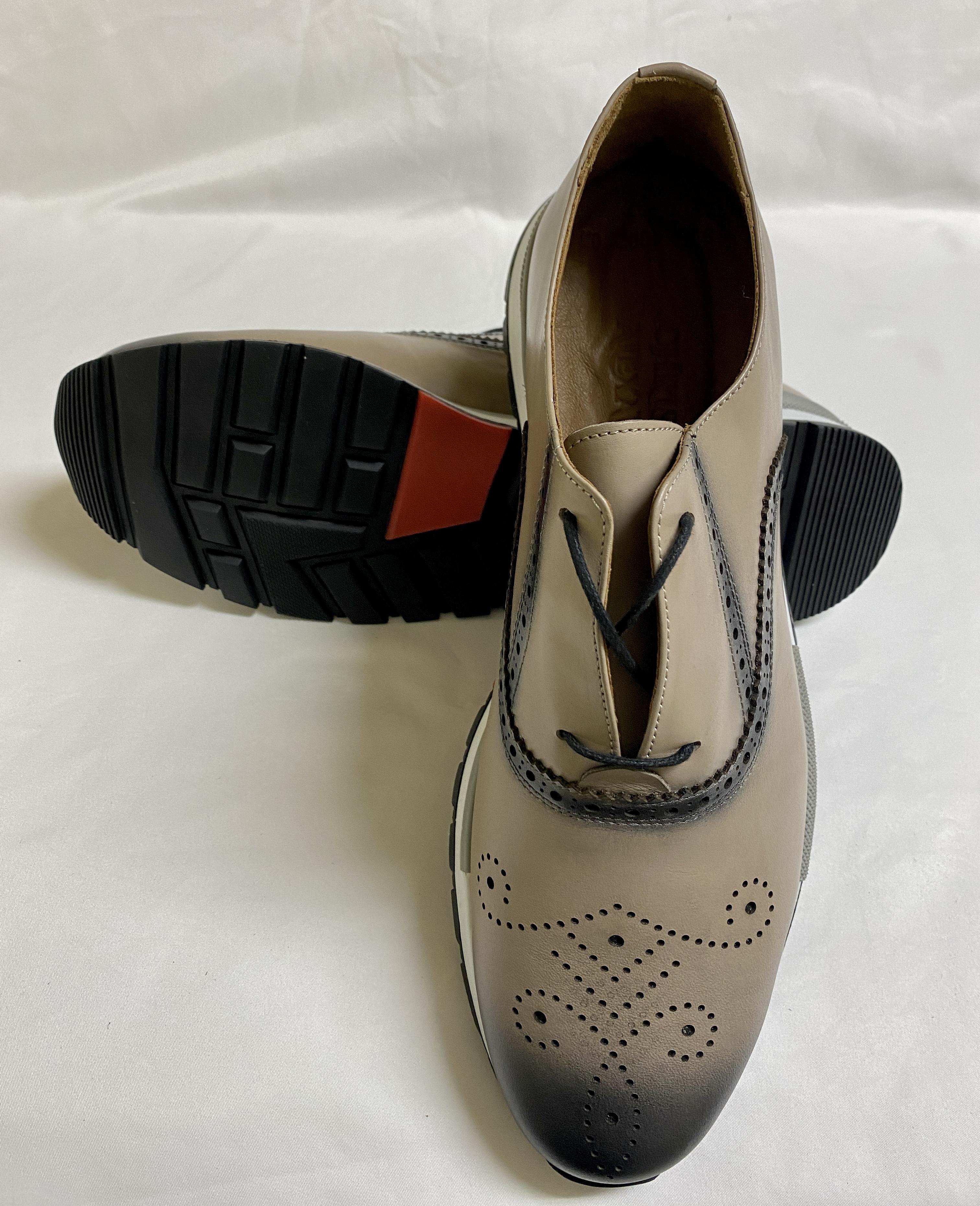 Dove grey dress sneaker