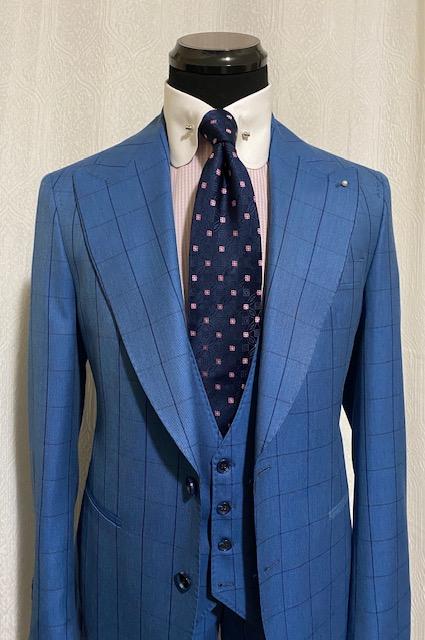 Blue Window Pane St James suit