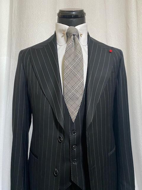 Black Pin Stripe St James Suit