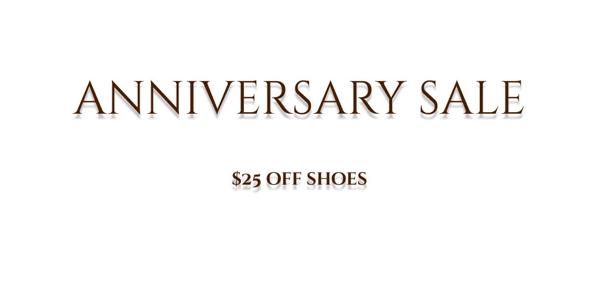 Anniversary sale announcement