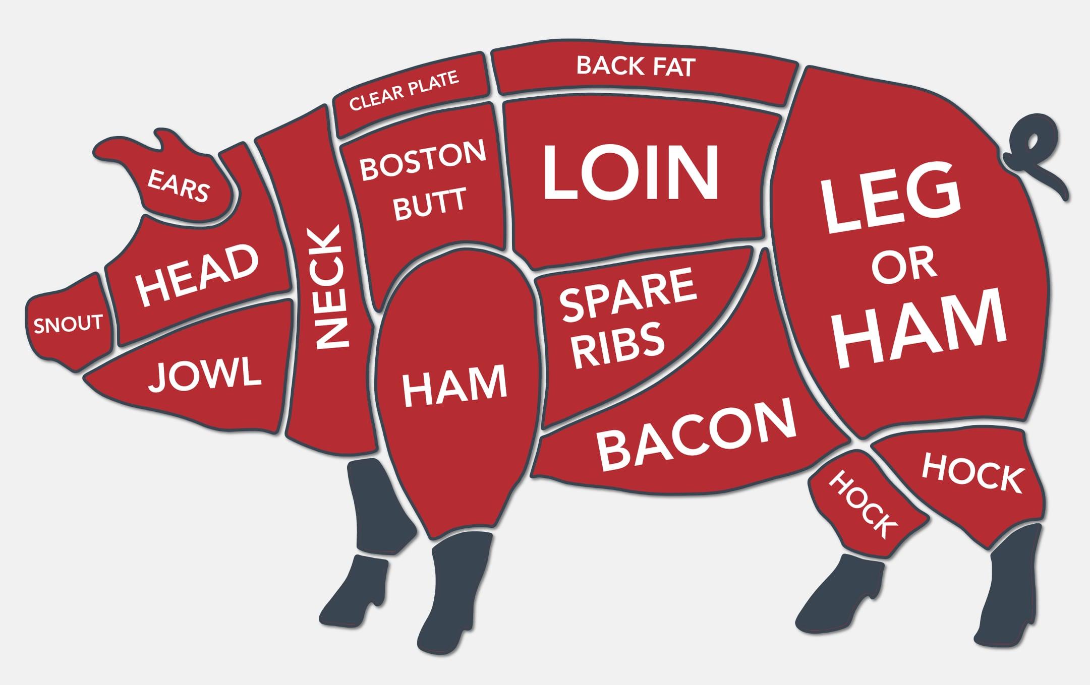 Diagram of Pork Cuts