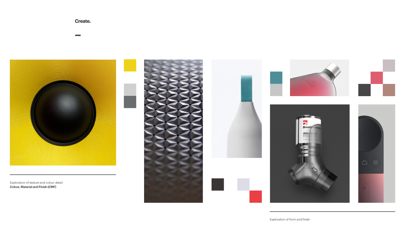 Moodboard images for new design language