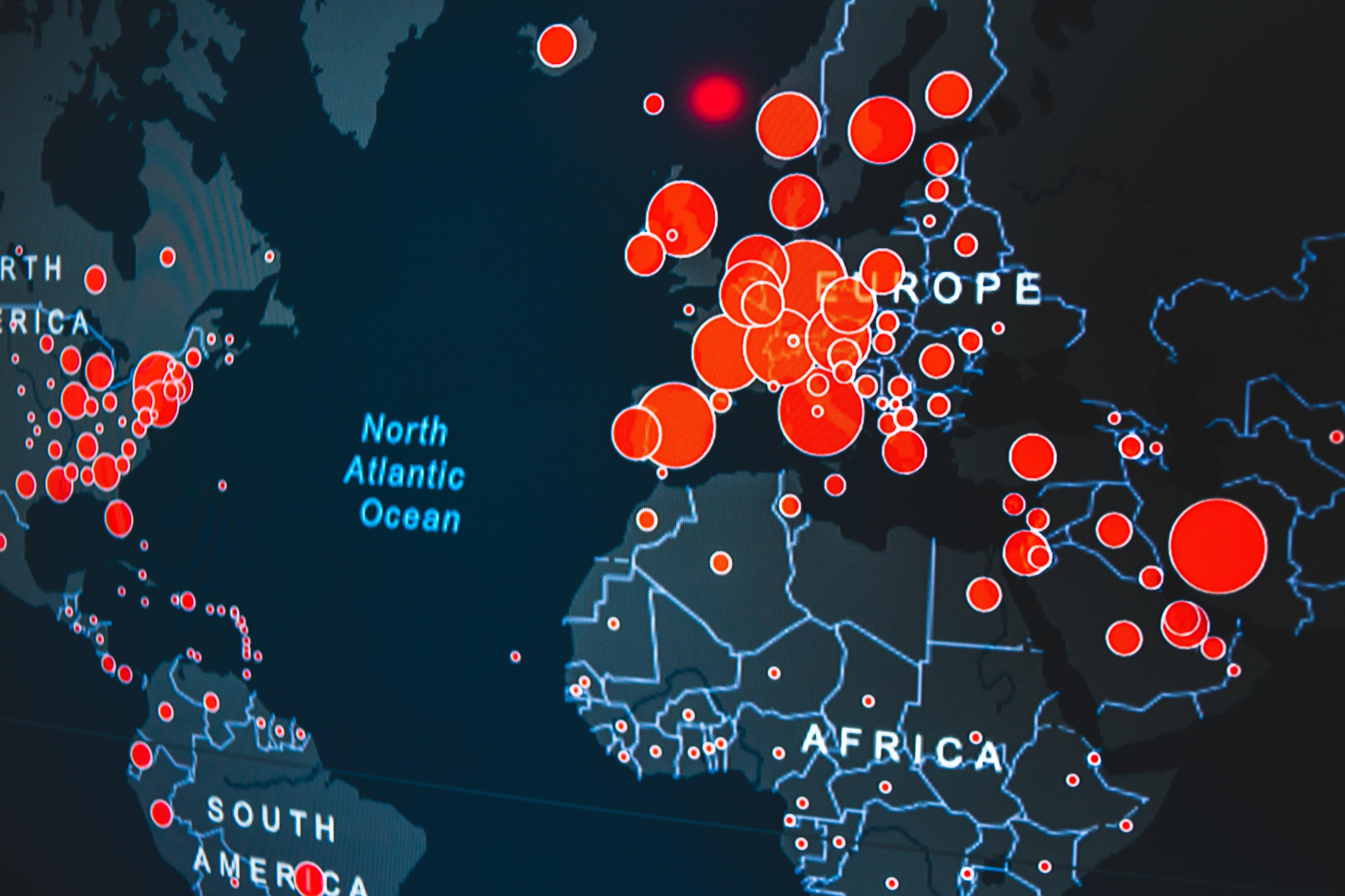 Covid 19 worldwide map