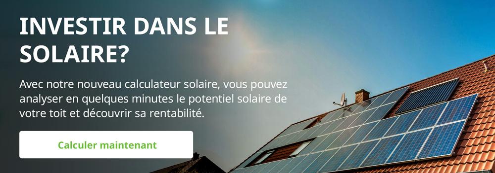 Potentiel solaire du toit: Calculer avec le calculateur solaire