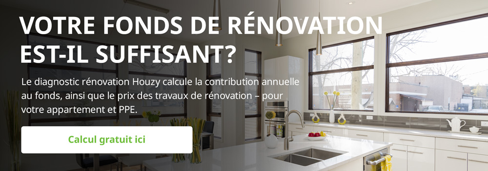 Fonds de rénovation PPE: Calculer le motant