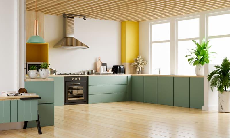 Rénover la cuisine: cuisine moderne aux couleurs claires