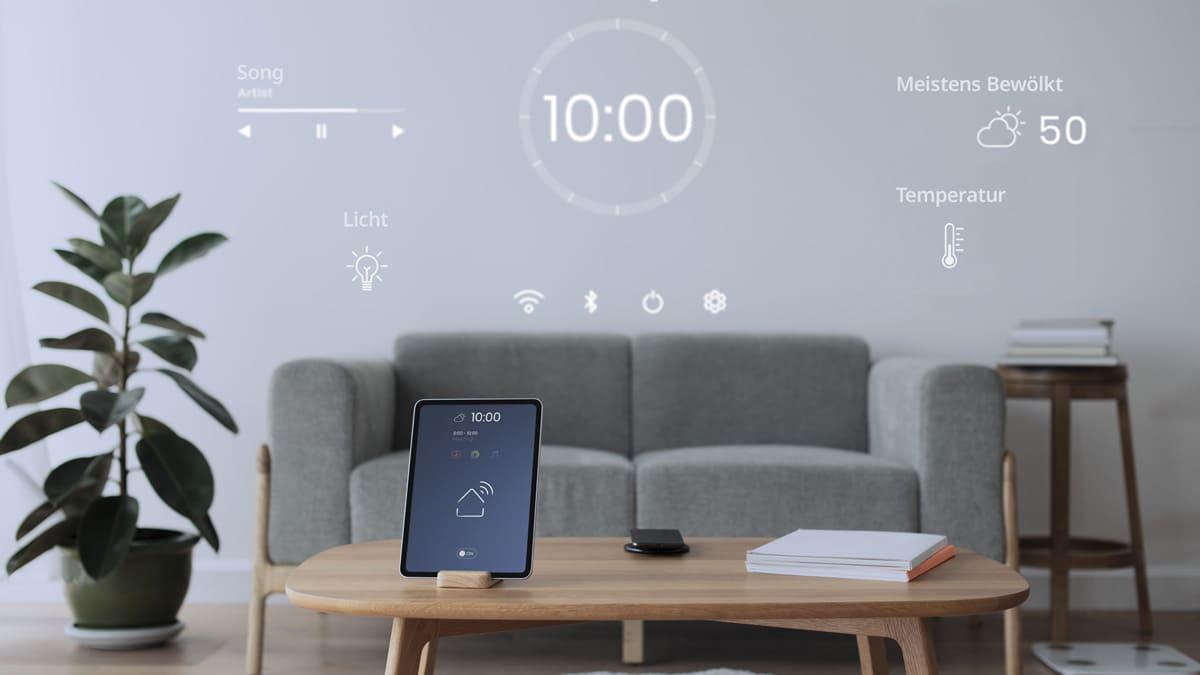 Smart Home ajuste par exemple la lumière et l'ambiance.