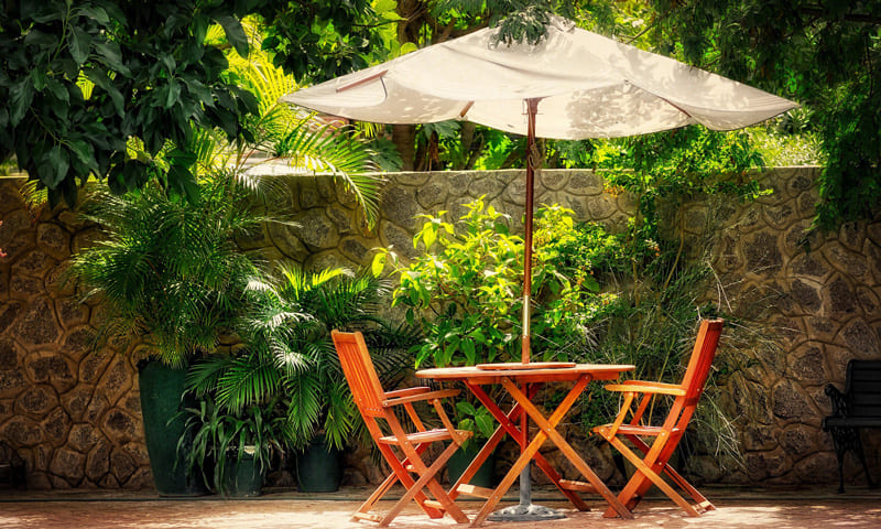 Protection solaire: parasol