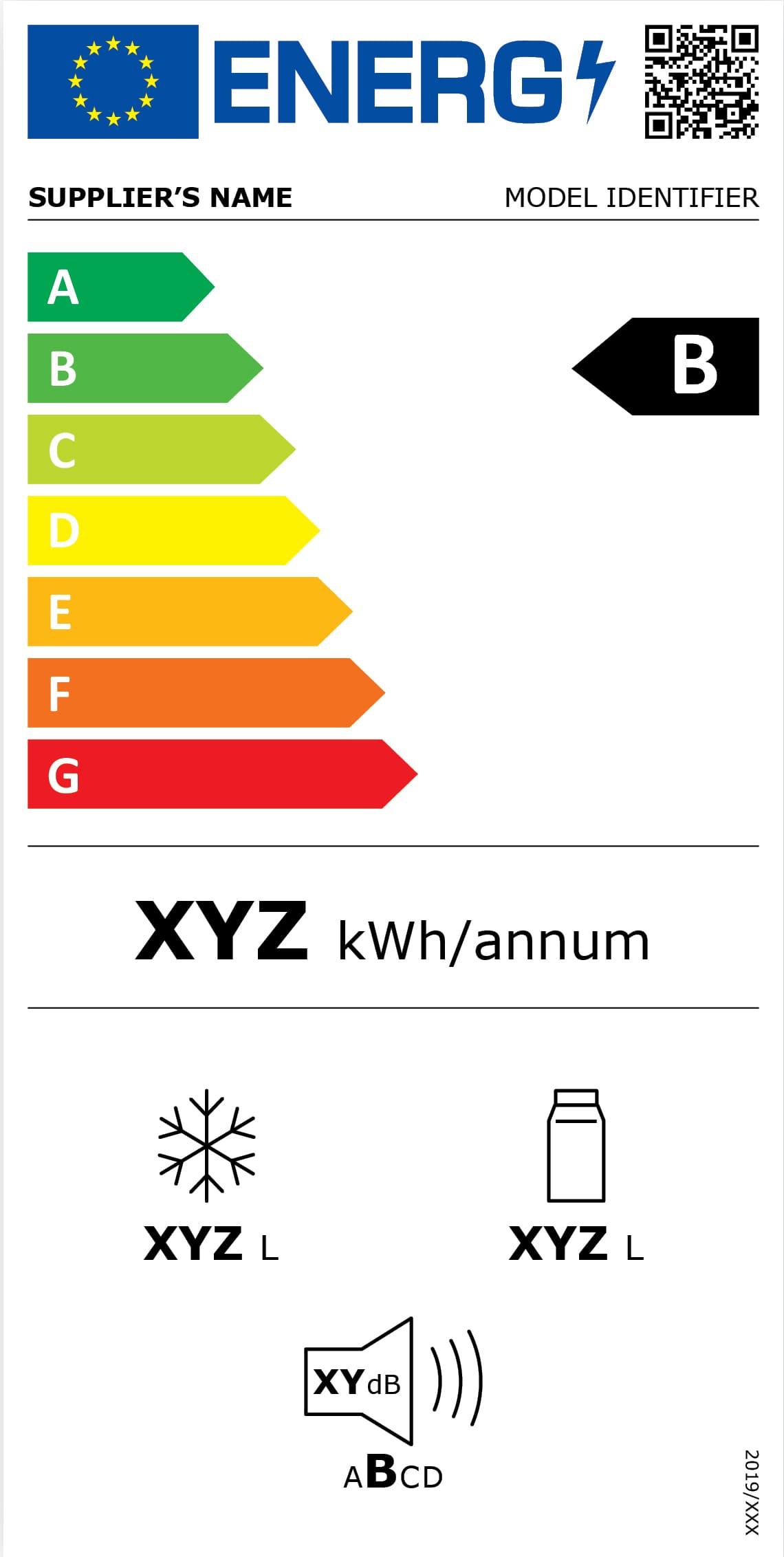 Nouveau label énergétique: Réfrigérateur