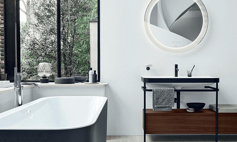 Planification de la salle de bain: lavabo avec meuble sous-vasque