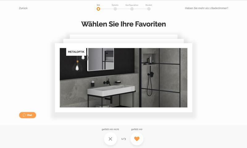 Planification de la salle de bain: Planificateur de salle de bains de Habitects