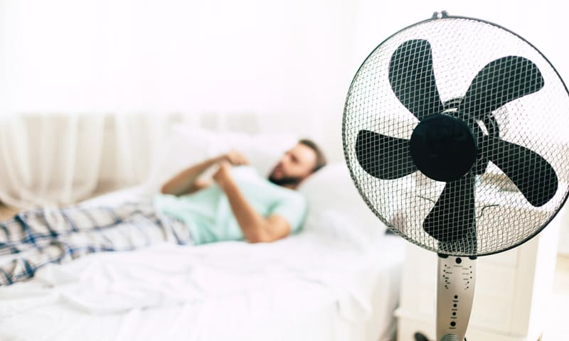 Ventilateur dans les combles