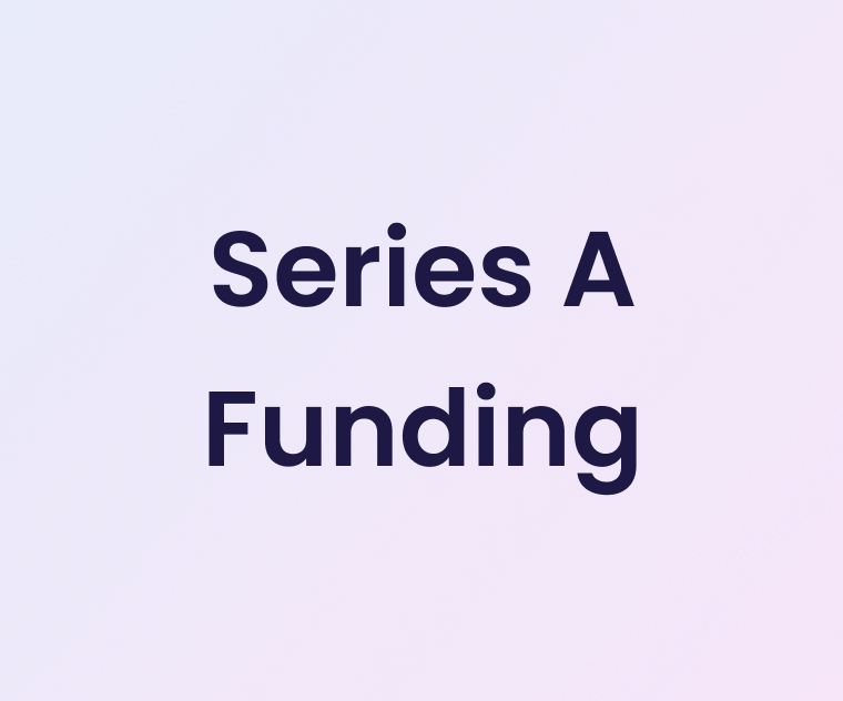 """Banner with text """"Series A funding"""""""