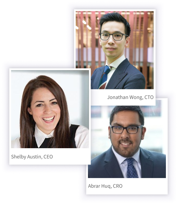 Arteria leadership photos. Clockwise - Jonathan Wong, Abrar Huq, Shelby Austin